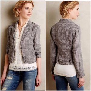 NEW NWT marrakech striped gray blazer wrinkled